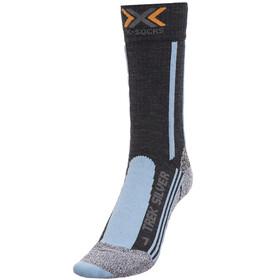 X-Socks W's Trekking Silver Socks Anthracite/Azure